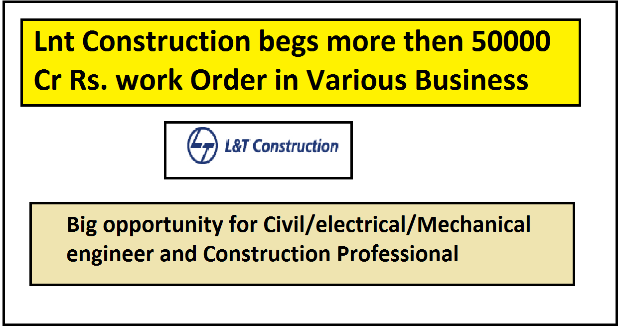 lnt construction Work order & related jobs opportunity