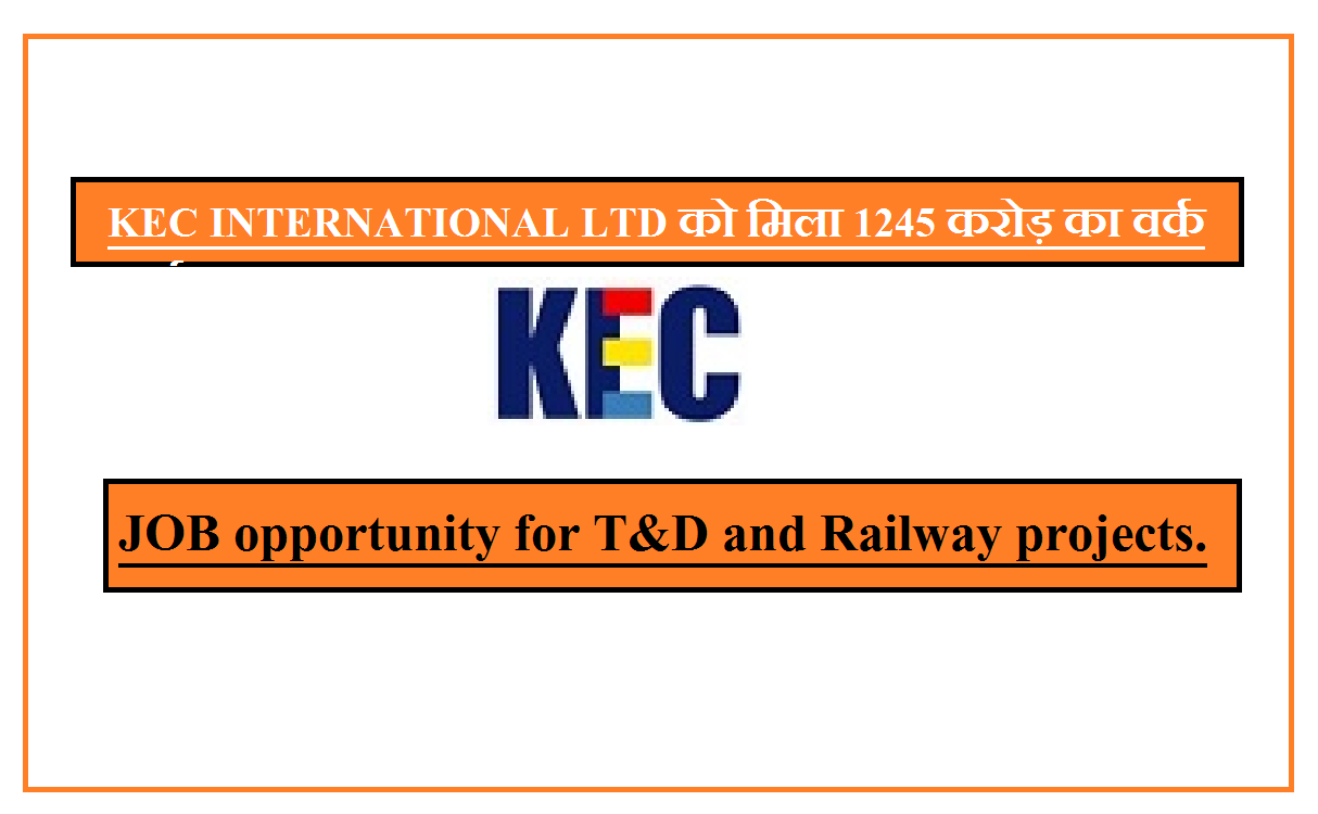 II JOB opportunity for T&D and Railway projects.