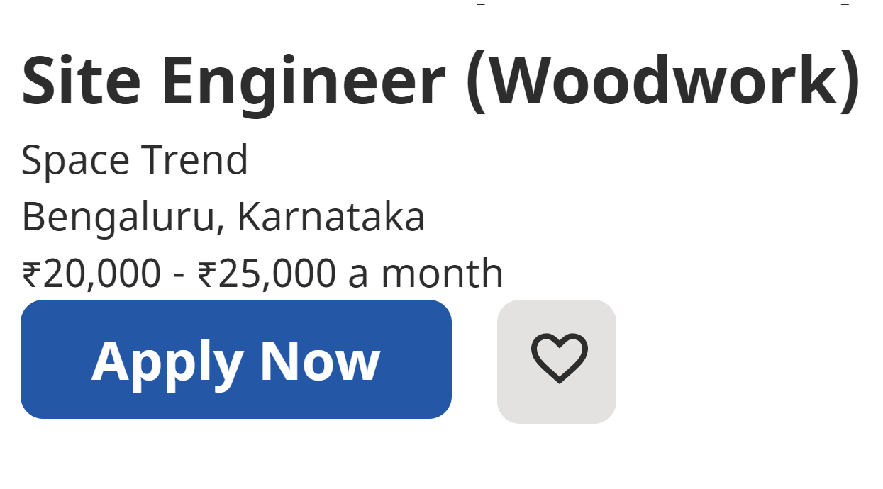 SPACE TREND RECRUITMENT FOR SITE ENGINEER